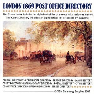 London 1869 Kelly's Post Office Directory