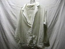 Vintage Diplomat L Large White Yellow Pajama Top Button