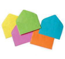 """60ct Six-Color Assorted Florist Enclosure Card Envelopes - Small 2-1/2"""" x 4-1/4"""""""