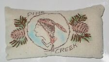 *NwT* Small Embroidered PiLLoW Pine Cones INDIAN oBo