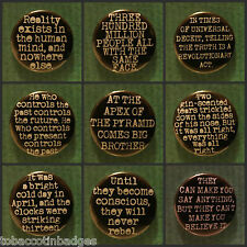 George Orwell 1984 BADGE QUOTE SLOGAN 25MM PIN  BUTTON BADGE Animal farm marxism
