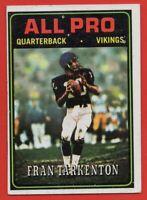 1974 Topps #129 Fran Tarkenton EX-EX+ Minnesota Vikings HOF AP FREE SHIPPING