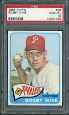 1965 Topps 36 Bobby Wine Phillies PSA 10  14054545