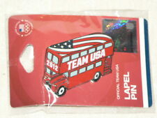 2012 Summer Olympics Pin London Team USA Double Decker Bus NIP