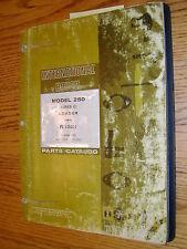 International Ih 250 C Parts Catalog Manual Book Crawler Track Loader Guide List