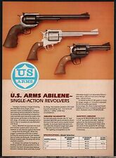 1983 MOSSBERG US ARMS Abilene Single-Action Revolver AD Firearms Advertising