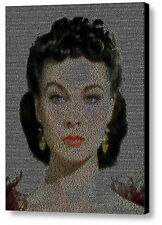 WOW Gone With The Wind Scarlett O'Hara Quotes Mosaic Framed Limited Edition Art