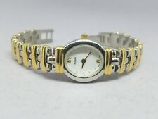 Pulsar Ladies Two Tone Stainless Steel White Dial Quartz Watch