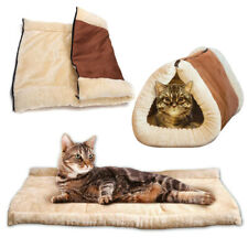 Pet Dog Cat Bed House 2-In-1 Fluffy Kennel Sleeping Nest Soft Warm Mat Pad Us