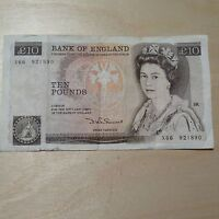 Rare/Collectors vintage Ten Pound old £10 Note D H F Somerset LOW serial NUMBERS
