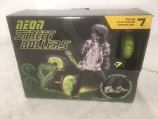 Green Neon Street Rollers ~ Light Up Wheels ~ Fits Shoe