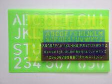 4 pcs Alphabet Stencil Set Lowercase Upper Numbers Font Symbol School Template