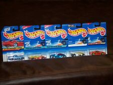 HOT WHEELS- 5 CAR LOT- MIXED LOT OF CARS - 57 T-BIRD - POWER PIPES AND MORE- NEW