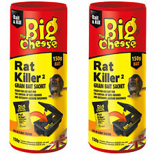2 x Big Cheese Rat Killer Grain Bait Sachet 150g Use in Bait Station - STV224