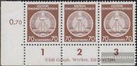 DDR DA27DV mit Druckvermerk postfrisch 1954 Dienstmarke