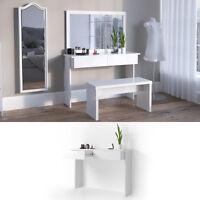 Tocador vanidad cómoda tocador cosméticos mesa blanco Azur