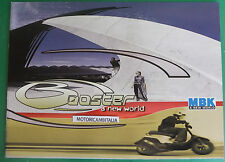 MBK SCOOTER BOOSTER TRACK SPIRITI NEXT GENERATION  DEPLIANT CATALOGO CATALOG MB