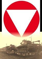 Militärische Eisenbahn Schwerlastwagen mit Panzer 2-tlg. M47 Tank ÖBB Bundesbahn