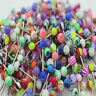 Lots Mixed Colorful Ball Tongue Nipple Bar Ring Barbell Body Piercing Jewelry