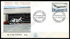 "Flugzeug ""Mystere 20"". FDC. Frankreich 1965"