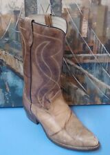 TEXAS Size 9.5EE Men 8011 Brown Leather Pointed Toe Mid Calf Western Style Boot