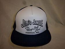 trucker hat baseball cap JIM JUNGLE FERTILE retro snapback cool mesh 1980 rare