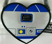 DISNEY PARKS - STAR WARS - R2-D2 HEART SHAPED CROSSBODY BAG PURSE ADJUSTABLE NEW