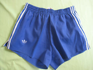 Short vintage Bleu Coton Adidas Trefoil Homme 90'S Retro style rugby - 90