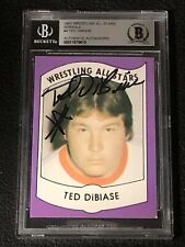 TED DiBIASE 1982 WRESTLING ALL STARS ROOKIE SIGNED AUTOGRAPHED CARD BECKETT BAS