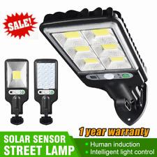 LED Solar Street Wall Light PIR Motion Sensor Dimmable Lamp Outdoor Garden UK