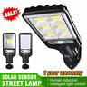 LED Solar Street Wall Light PIR Motion Sensor Dimmable Lamp Outdoor Garden UK
