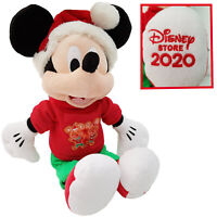 Disney Store Mickey Mouse Xmas Holiday Cheer Plush Soft Cuddly Stuffed Toy 2020