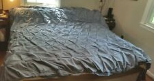 """Teal turqoise ruched cotton duvet cover, king, 100"""" x 94"""""""