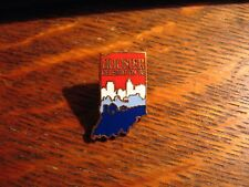 Hoosier Celebration Lapel Pin - Vintage 1988 Indiana USA State History Souvenir