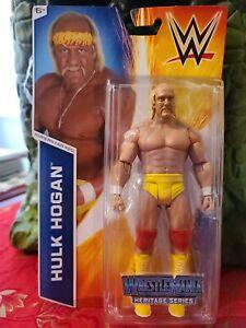 *Shelf Wear* WWE Hulk Hogan Mattel Wrestlemania Heritage Series Wrestling Figure