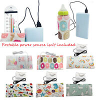 Portable USB Baby Bottle Warmer Travel  Cup Heater Infant Milk Feeding Bag*Cover