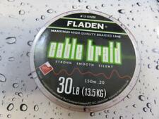 FLADEN 150m FISHING BRAID 30lb RED 0.20 Teflon Coated Braided line for Reel