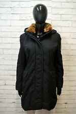 REFRIGIWEAR Donna L Parka Collo in Pelliccia Cappotto Nero Giacca Jacket Women