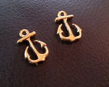 Anchor Charms Pendants Antiqued Gold Nautical Charms Ocean Charms 25 pieces