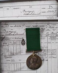 NAVAL LONG SERVICE MEDAL TO W. S. BARZEY, BORN MONTSERRAT 1873, WW1 HMS ORBITA