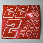 PINK CHROME w/White #2's Decal Sticker Sheet DEFECTS  1/8-1/10-1/12 RC Mo BoxD