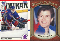 Mike Richter Lot of 2 different NY Rangers Hockey Cards  RC