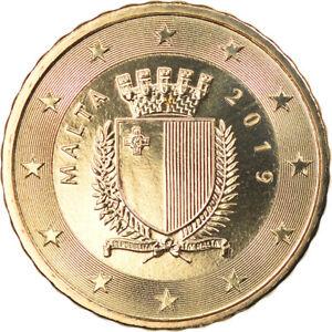 [#796534] Malte, 10 Euro Cent, 2019, FDC, Laiton, KM:New