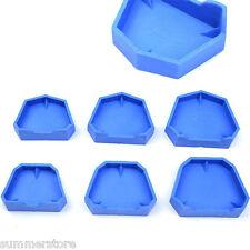 Rubber Dental Lab Plaster Model Former Base Molds Equip Blue - Pack of 6 Pcs