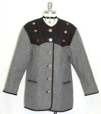 H MOSER / BLACK & GRAY ~ WOOL & ALPACA Austria Women Winter JACKET Coat 40 12 M