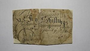 1754 Forty Shillings North Carolina NC Colonial Currency Note Bill! RARE 40s