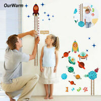 Sticker Measure Room Decor Planets Baby Space Kids Home Chart Wall Height