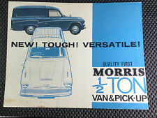 Morris Oxford 1/2 media tonelada van & Recoger 1966 8 FOLLETO desplegable en página
