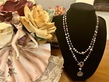 """Silpada N1784 Sterling Silver Hematite, Pearl, Shell and Glass Necklace 34"""" $94"""