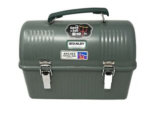 Classic Dome Style Stanley Lunch Box Steel Metal Hammered Green 10 Qt